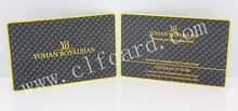 Branded newly design etched matte black metal card