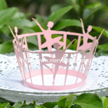 """Hot selling laser cut """"ballet girl"""" cupcake wrappers party decoration birthday accessories from Mery Crafts"""