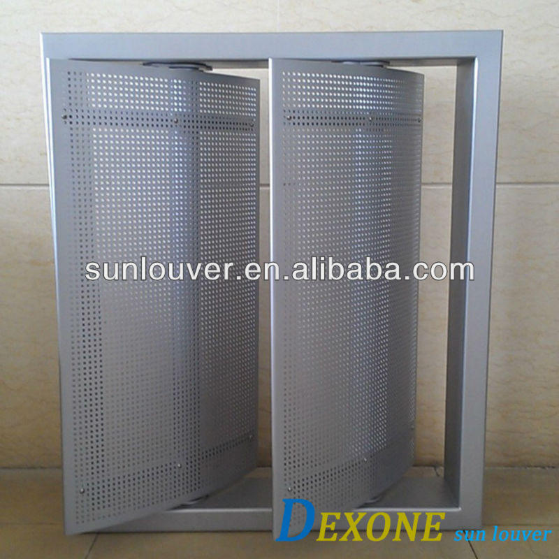 Modern Exterior Aluminum Louver Windows Adjustable Louver ISO View Exterior