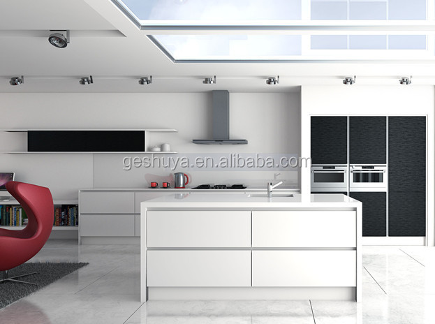 Lb dd1002 estilo moderno blanco pvc gabinetes de cocina for Estilos de gabinetes de cocina modernos