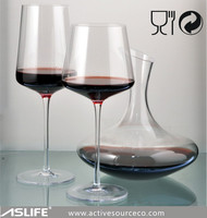 (AS91BJ45)Chicago Housewares Show Hot Glass Items!450ml Red Wine No Lead Crystal Glass Goblets!Man Made Glass Goblet Wine 450ml