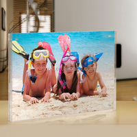 clear acrylic square magnetic photo funia/photo frame wholesale