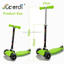 new mini maxi folding flicker kids kick n go three wheel foot pedal scooters china