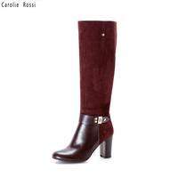 New fancy over knee leather women motorbike boots