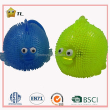 12 cm TPR corée du sud hot transparente yo - yo éclairage poisson avec sifflet