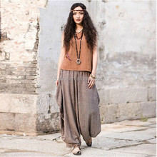 2014 latest design casual plus size vintage style thai pants women