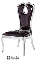 High glass dining chair A868