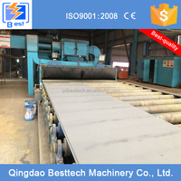 Roller conveyor tunnel type shot blast cleaning unit
