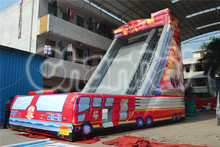 Hot Sale Giant Fire Truck Inflatable Water Slide