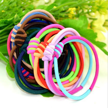 The New Double Knotted hair band, Children elastic hair ties