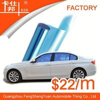 car glass color change,VLT 75% film blue car window film with free sample
