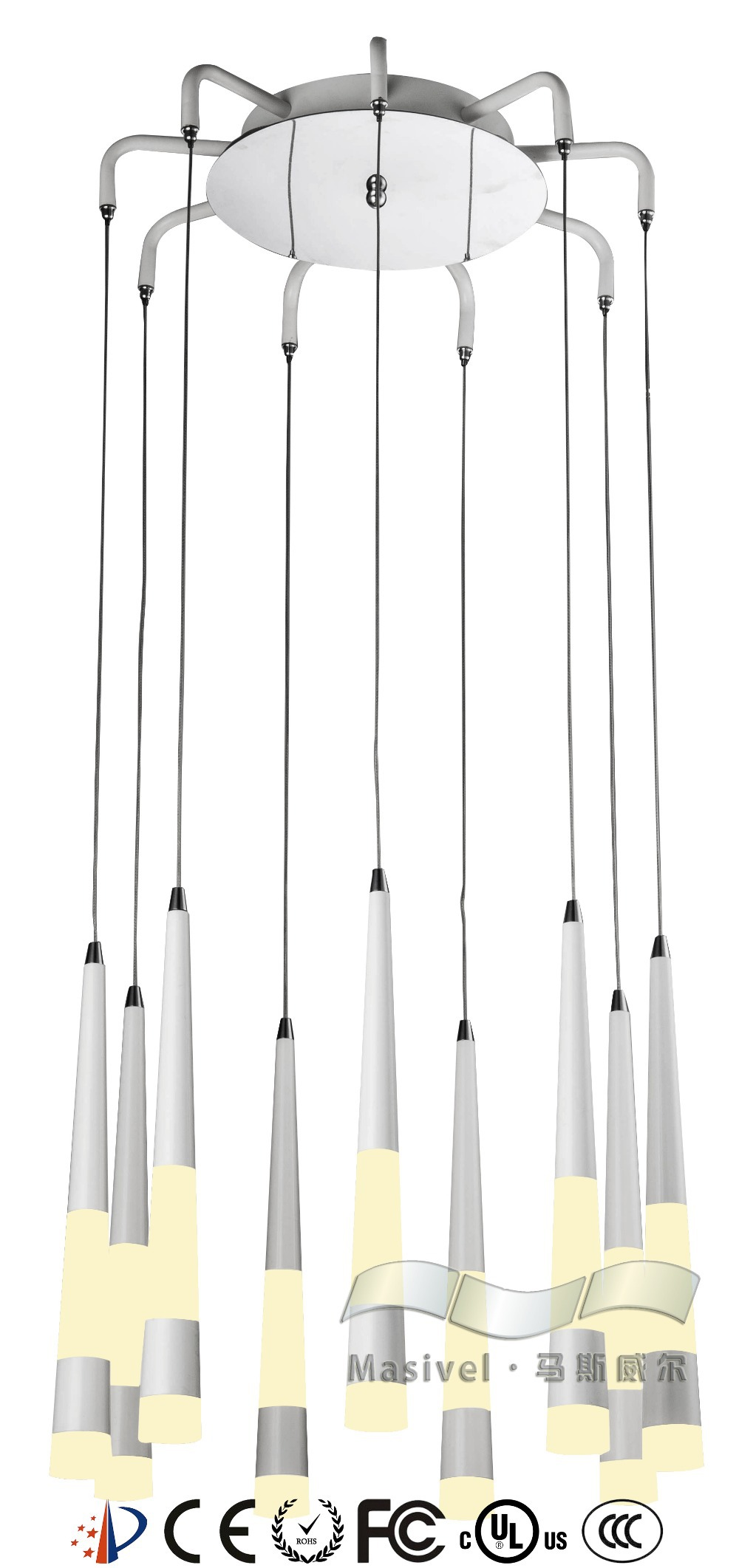 Suspended light led luminaire suspended pendant lighting for Luminaire double suspension