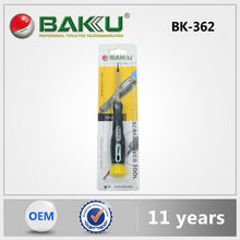 Baku 2015 Hot Excellent Quality Low Cost With Plastic Handle Metal Pen With Level And Screwdriver