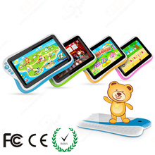 7 inch custom manufacture OEM easy touch colorful kid education tablet, kids new products on china market