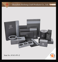 SGS certificate wholesale spa leather bathroom accessories sets for hotel