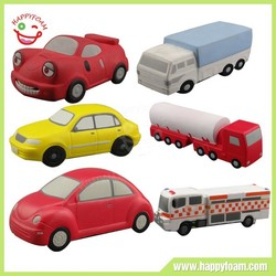 PU car shape stress ball and toy for kids
