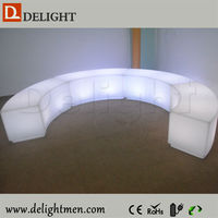 led bench with lighting/snake wine