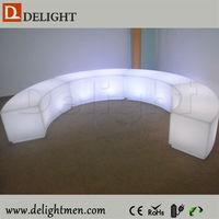 led bench with lighting/snake wine