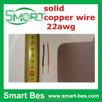 Free ship by DHL 2000 Red and 2000 Black wire/lot single core 5cm wire 22AWG electric wire
