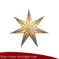 Golden Many Size decorative star christmas light projector