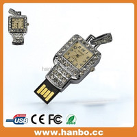 special design watch shape crystal usb flash drive
