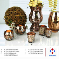 copper glass flower vase painting designs for christmas
