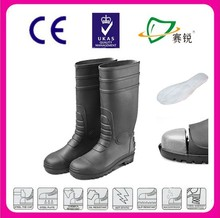 2015 NEW PVC safety boots,protective footwear,groundwork safety rain boots