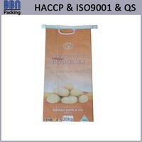 printed kraft paper potato bag
