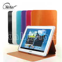 Huihuang professional pu leather flip cover case for samsung note 10.1 N8000