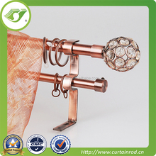 DF-0005 Double Curtain Rod With Iron Finial / Hot Unique Design Window Decoration