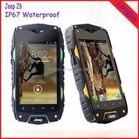Original Jeep Z6 3G Rugged Waterproof Cell Phone MTK6572 Dual Core Dual Sim