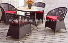 AWRF5144 NEW DESIGN FASHION ALL WEATHER used wicker furniture with waterproof cushion