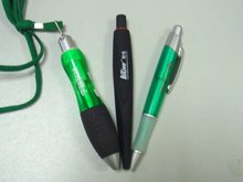LB-01-plastic promotional lanyard pen