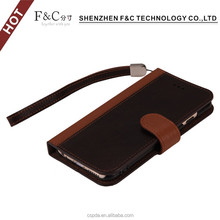 Aliaba China hot selling wristband wallet mobile cover for iphone 6S genuine leather case