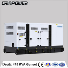 alternator generator 475kVA 380kw deutz silent type power generator turbine engine 50/60hz