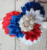 New Arrival Petite Flowers Covered Infant Headbands For Independence Day