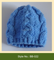 BB-022 fashion acrylic winter kids beanie hat