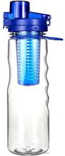 25OZ Plastic Infuser Water Bottle Leak Proof Sport Flip-top BPA-Free Tritan fruit infuser water bottle/Shaker bottle
