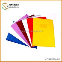 easy use color PVC book cover/Plastic school book cover / Pvc notebook cover wholesale