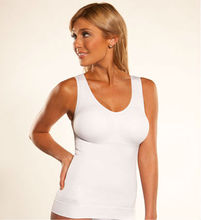White slimming ladies seamless vest
