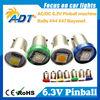 new product on china market SMD LED BA9S Bayonet #44#47 6.3v pinball led bulb