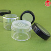 60 gr Taiwan Made clear plastic cosmetic body powder containers Sifter Loose Powder Container