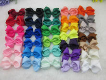 32colors 3inch grosgrain ribbon hair bows WITH Clip,baby hairbow,Boutique bow for Children hair accessories IN STOCK