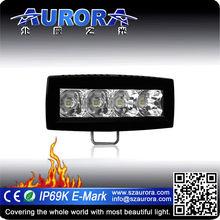 "IP68K AURORA 4"" single row car drving led bar motorcycle led light"