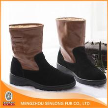 high quality genuine sheep fur women winter shoes