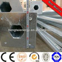 2-20m htlp caliente de zinc galvanizado solar postes de iluminación, sreet polo, poste de acero