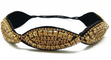 2015 gold color bohemian sew on stones crystal headbands for women