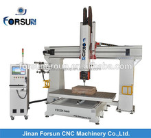Factory price CE supply china 5 axis cnc machine for making big animal sculpture/5 axis milling machine with auto tool change
