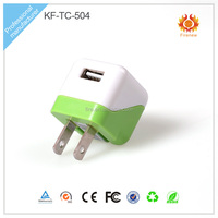 China Portable Mini Colorful 5v1a Travel Charger For All Smart Phone