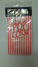 popcorn paper bags set with poly bag and head carder for canada dollar general